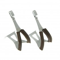 BLB - Steel Toe Clips With Leather Cover - Single Bridge/Single Gate