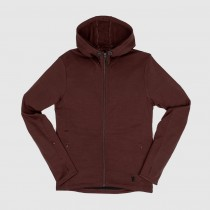 Chrome - Cobra Merino Hoodie - rum raisin