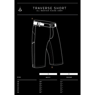 Mission Workshop / Acre - Traverse All Mountain Riding Short dunkelgrau 30