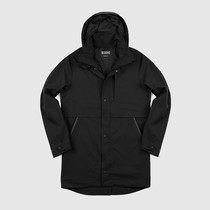 Chrome - Stanton Rain Trench Jacke - Black