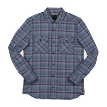 Chrome - Woven Stretch Workshirt - Midnight Navy Plaid